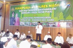 Buka Puasa Bersama dan Launching Pembangunan Masjid  Ar-Rahman Desa Bolo Kec. Kare kab. Madiun 1