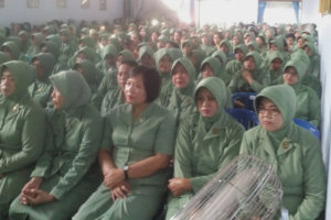 Kunjungan Kerja Ketua Persit KCK Koorcab Rem 081 PD  VBrawijaya Di Kodim 0810Nganjuk. 2