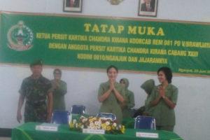 Kunjungan Kerja Ketua Persit KCK Koorcab Rem 081 PD  VBrawijaya Di Kodim 0810Nganjuk. 3