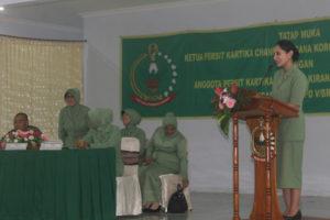 Tatap Muka Ketua Persit KCK Koorcab Rem 081 PD V Brawijaya  Dengan Anggota Persit KCK Cabang XXIV Yonif 511DY (3)