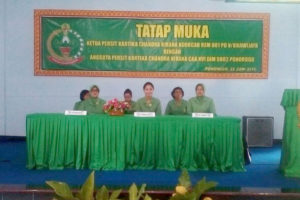 Tatap muka Ketua Koorcab Rem 081 dengan Anggota Persit  Vabang Kodim 0802 Ponorogo (1)