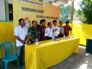 3. Danramil Labang Bangkalan, Hadiri Penetapan dan Undian Nonor Calon Kades