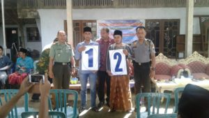 4. Danramil Arosbayar Bangkalan, Hadiri Penetapan dan Undian Nomor Calon Kades