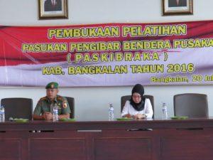 Dandim Bangkalan Buka Latihan Paskibraka Tahun 2016 (6)