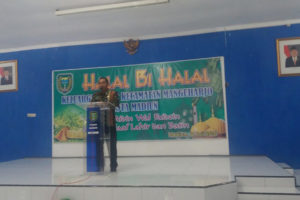 Danpos 18 Manguharjo Hadiri Halal Bi Halal Keluarga Besar  Kecamatan Manguharjo Kota Madiun 3