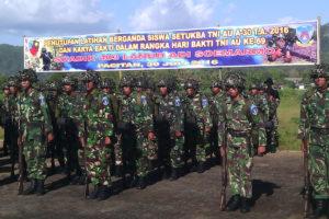 Kasdim 0801Pacitan Hadiri Penutupan Latganda Siswa Setukba  Angkatan Ke-30 Skadik 403 TNI-AU 3