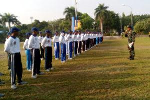 Latihan Paskibraka Di Aloen-Aloen Kota Madiun