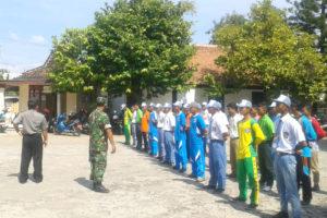 Latihan Paskibraka Serentak di Koramil Jajaran Kodim 0805  Ngawi. 2jpg
