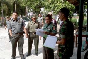 PemeriksaanPengecekan Renovasi Bangunan Koramil 081007  Patianrowo Oleh Team Wasrik kodam VBraijaya 1