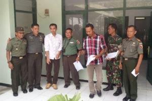 PemeriksaanPengecekan Renovasi Bangunan Koramil 081007  Patianrowo Oleh Team Wasrik kodam VBraijaya 2