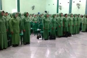 Pertemuan Anggota dan Halal Bihalal Persit KCK Cabang XVII  Kodim 0803Madiun  5