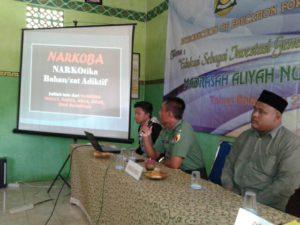 4. Danramil Galis Bangkalan Ajak MA, Jauhi Narkoba
