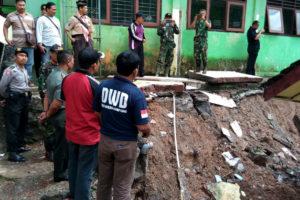Dandim 0806Trenggalek Bencana Tanah Longsor Di Wilayah  Bendungan Trenggalek 1