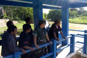 Danrem 081,DSJ Mengecek Bendungan Pengairan Dam Sungkur  Kecamatan Jambon Ponorogo 1