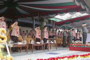 Danrem 081DSJ Pimpin Upacara Pembukaan Jambore Dan  Raimuna Peringatan Seperempat Abad Gontor Putri Ngawi. 3