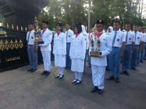 Kodim 0829 Bangkalan Gealar Kirab Juara 1 Paskibraka a