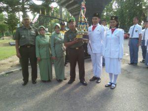 Kodim 0829 Bangkalan Gealar Kirab Juara 1 Paskibraka g