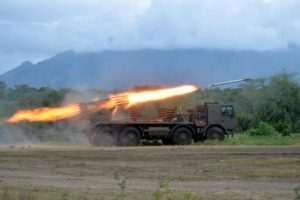 Komandan Lantamal V Hadiri Penyerahan Kendaraan Tempur Marinir MLRS Di Karang Tekok 4