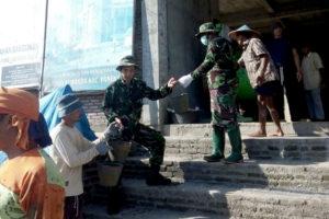 Koramil 080403 Panekan Kodim Magetan Laksanakan Pengecoran  Masjid Syuhada 1