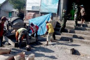 Koramil 080403 Panekan Kodim Magetan Laksanakan Pengecoran  Masjid Syuhada 3