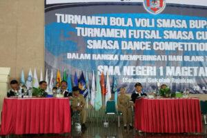 Pembukaan Turnamen Bolla Vooly SMASA Bupati Cup ke X,  Futsal SMASA Bupati Cup IV Dan SMASA Dance Competition ke IV  Di Magetan 1