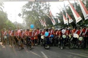 Sepeda Santai Dalam Rangka HUT INKA Ke-35 Tahun 2016 Di  Kota Madiun 3