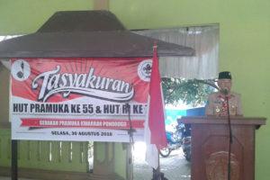 Tasyakuran HUT Pramuka Ke 55 Di Pendopo Kec Ponorogo  (3)