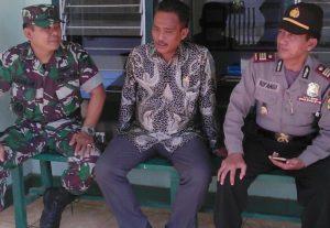 3. Danramil dan Kapolsek Klampis Bangkalan, Koordinasikan Kesiapan Pilkades a