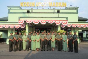 KUNJUNGAN KERJA PANGDAM VBRW MAYJEN TNI I MADE SUKADANA  S.I.P  DI KODIM 0803MADIUN (1)