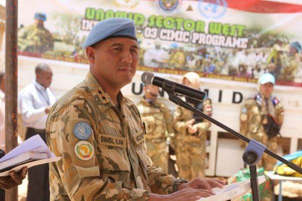 Komandan Satgas Yonkomposit TNI Konga XXXV-C UNAMID Resmikan Masjid di Al- Wahdah Ar-Riyadh