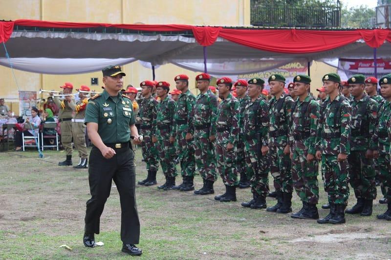 Yonif Raider 413 Kostrad Ikuti Upacara Penutupan TMMD Sengkuyung