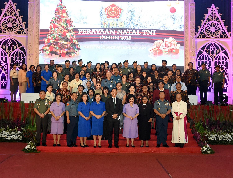 Umat Kristiani Wilayah Garnisun Tetap I Jakarta Rayakan Natal Bersama