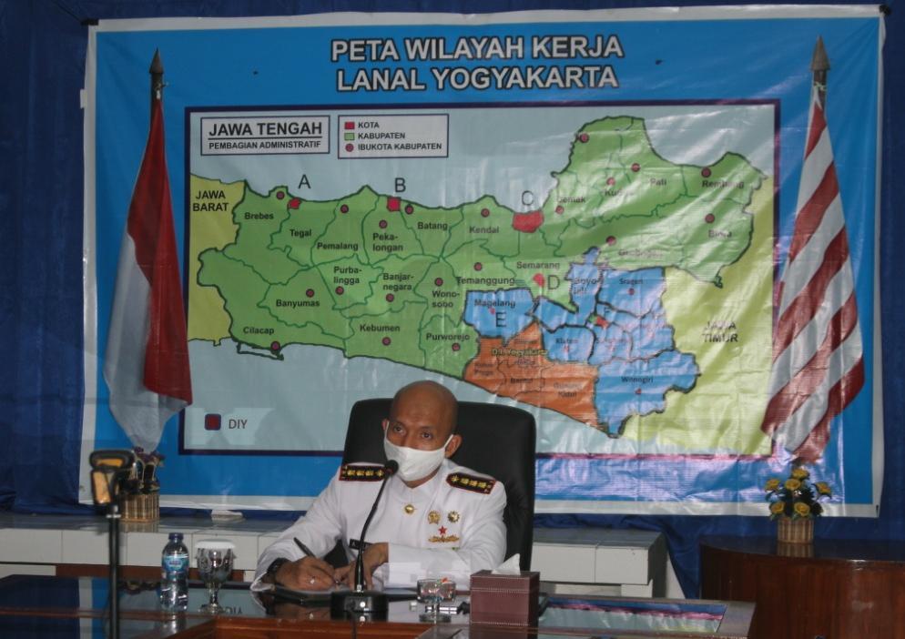 Danlanal Yogyakarta Ikuti Virtual Sidang dan Pidato Kenegaraan Jelang HUT RI ke-75